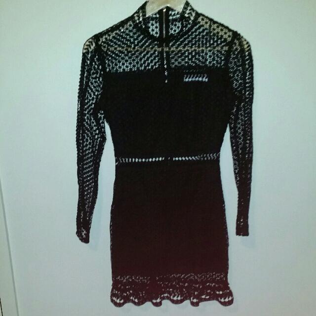 Ache black lace dress