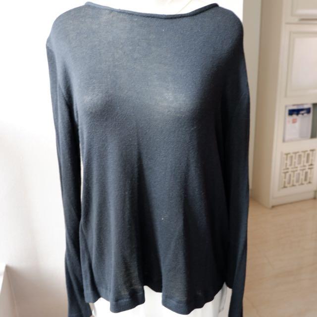 Atmosphere - Kemeja/sweater hitam putih medium