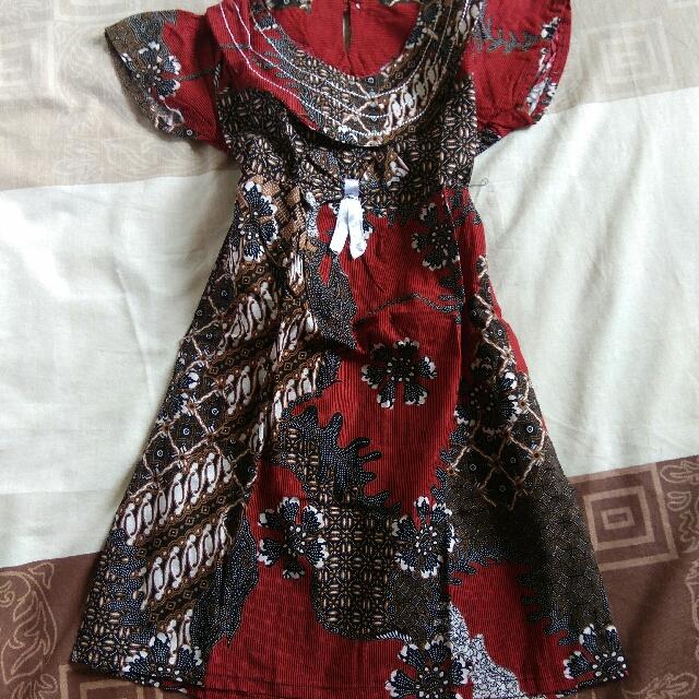 baju batik usia 2th