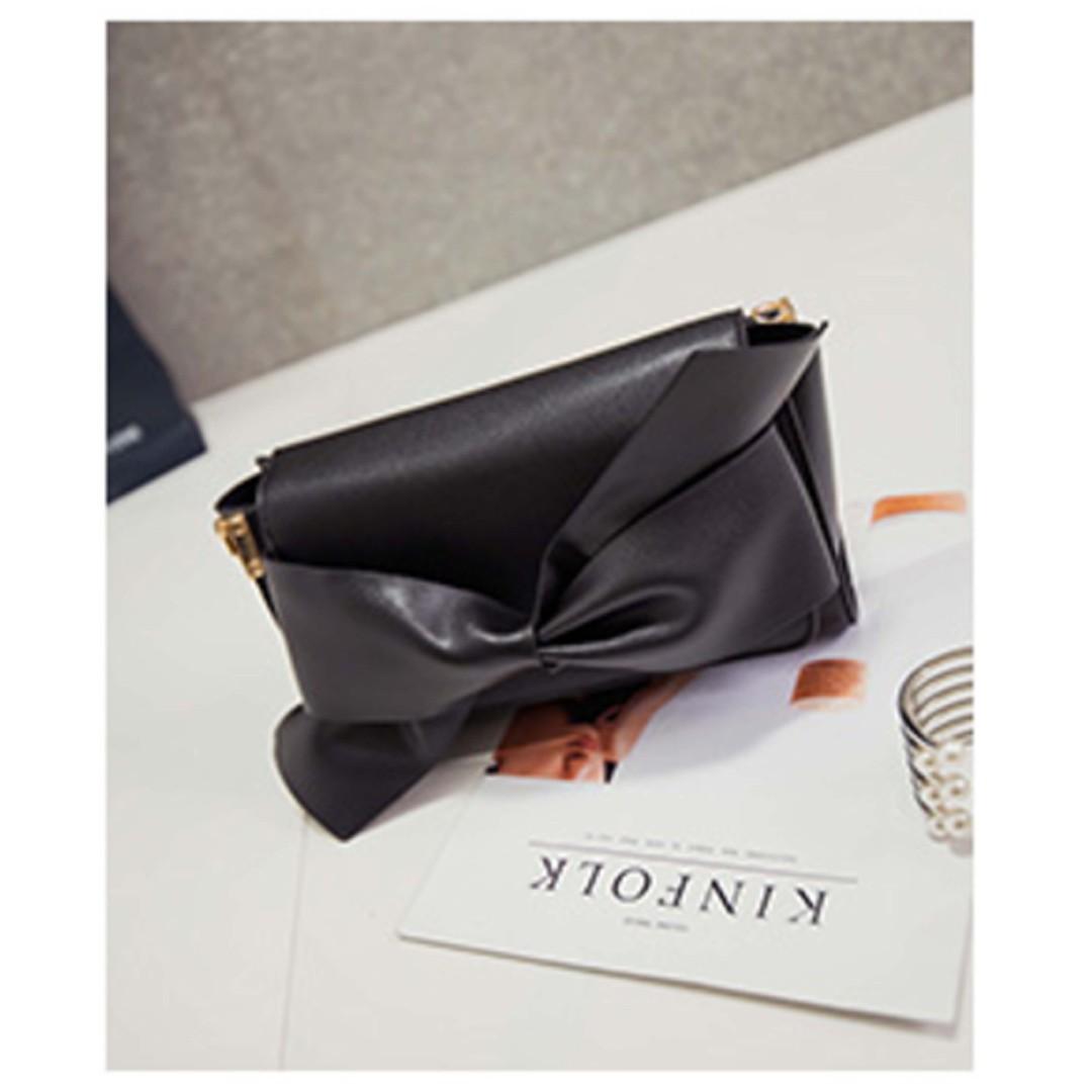 Big Bow Clutch Bag / Sling Bag / Messenger Bag / Dinner Bag / Ribbon Bag