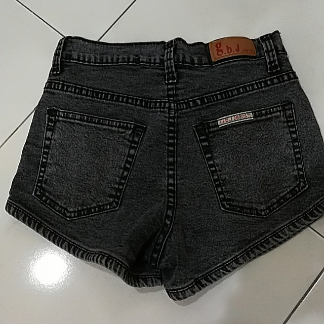 Black color short jean