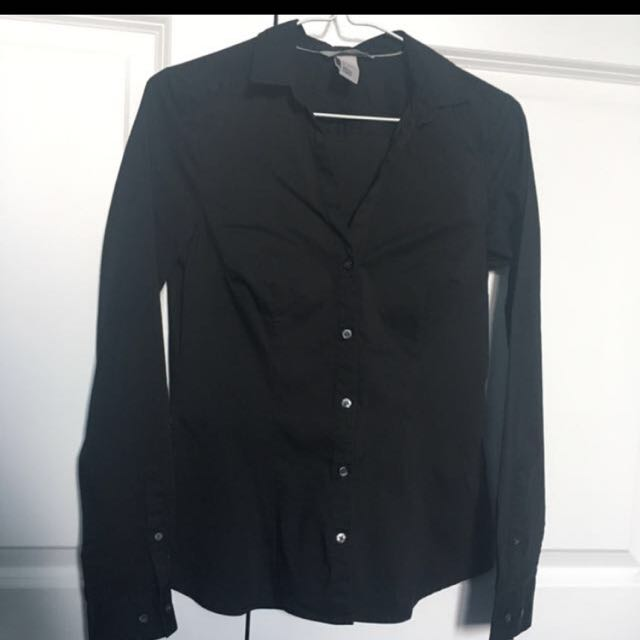 Black Dress Shirt H&M