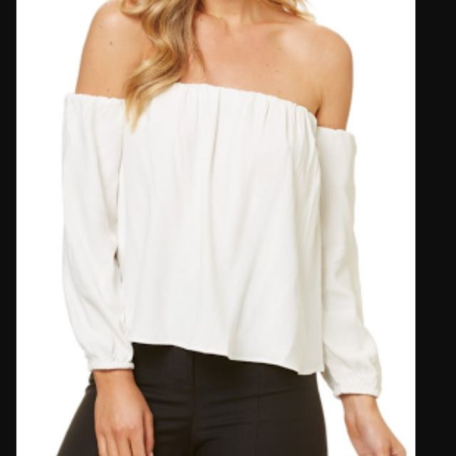 BLACK Kookaï Off Shoulder Top