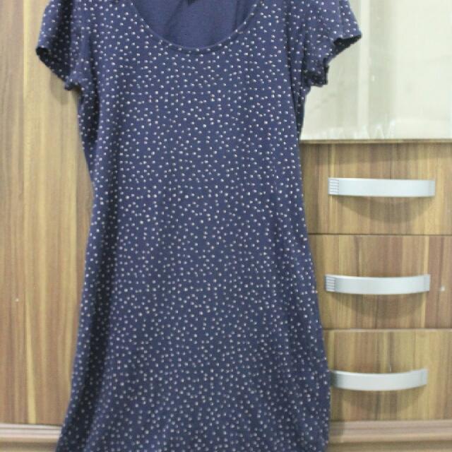 Blue polka dress (By HnM)