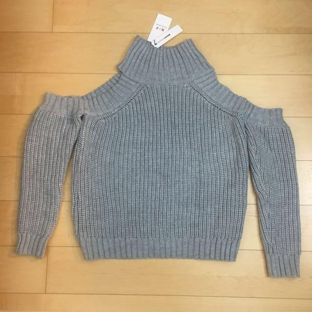 BNWT Zaful Grey Knitted Jumper