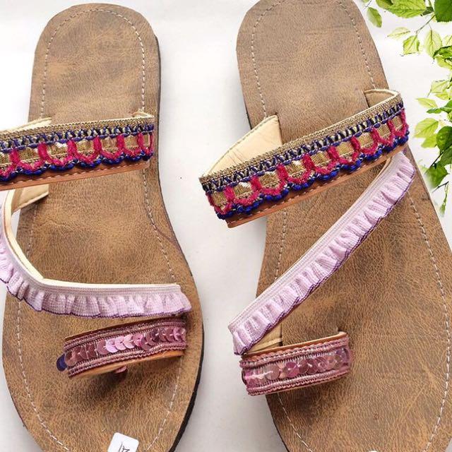 Boho Sling Sandal 7C
