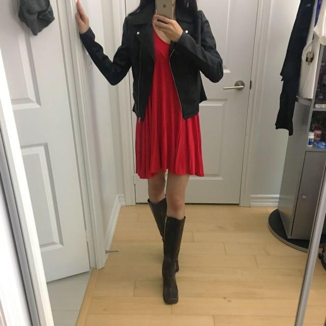 Boohoo Red Swing Dress