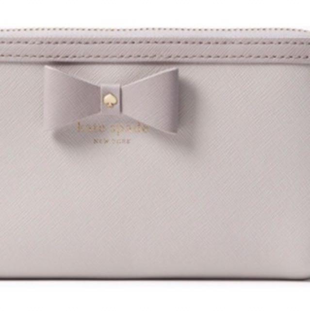 Brand New Kate Spade Bow Hazel Court Zippy Wallet
