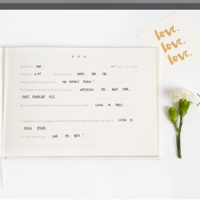 Brand New Sealed Kikki K Always And Forever Wedding Question Guest Book Design Craft Supplies Tools On Carou