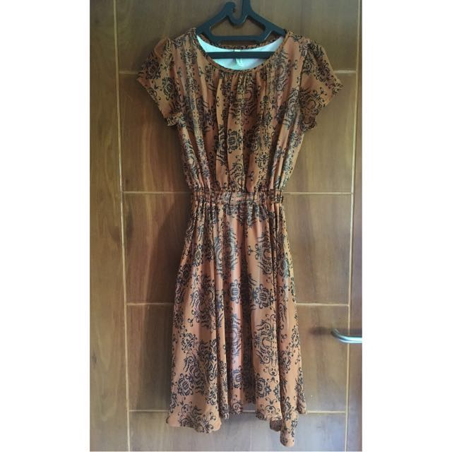 Brown Vintage Dress