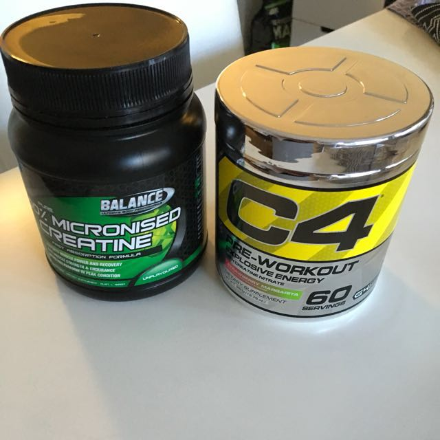 C4 pre workout and Creatine Authentic