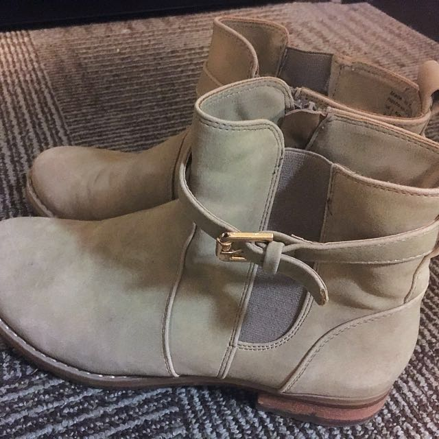 Call It Spring Beige Ankle Boots
