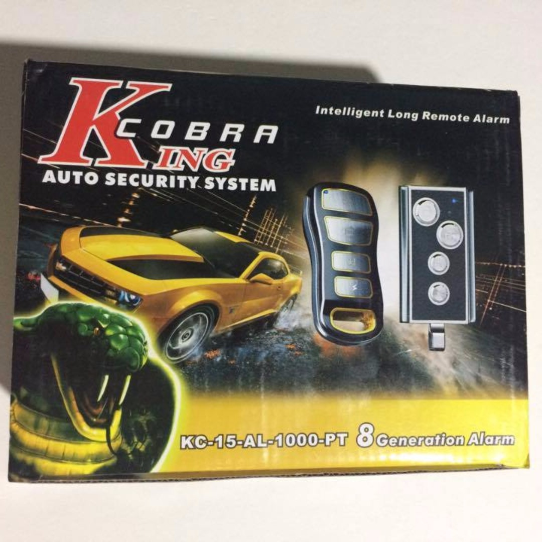 Car Alarm Cobra King Auto Security System 8 Generation Car Parts Accessories On Carousell