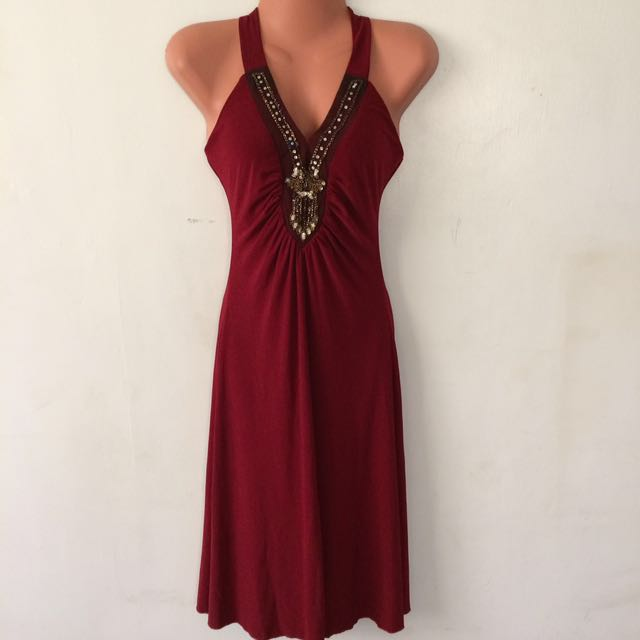 Casual maroon/red dress