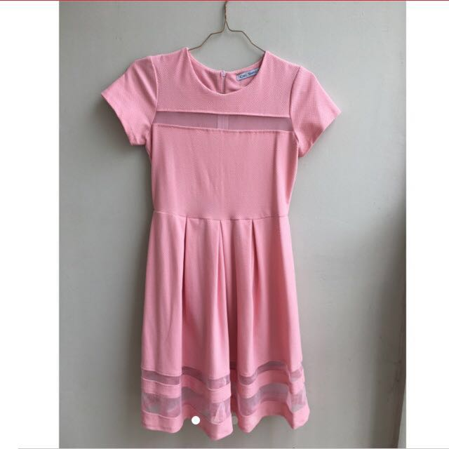 Chic Simple Sweet Pink Dress