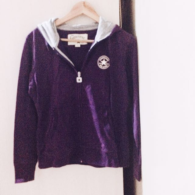 Converse Purple Zip Up Hoodie Jacket