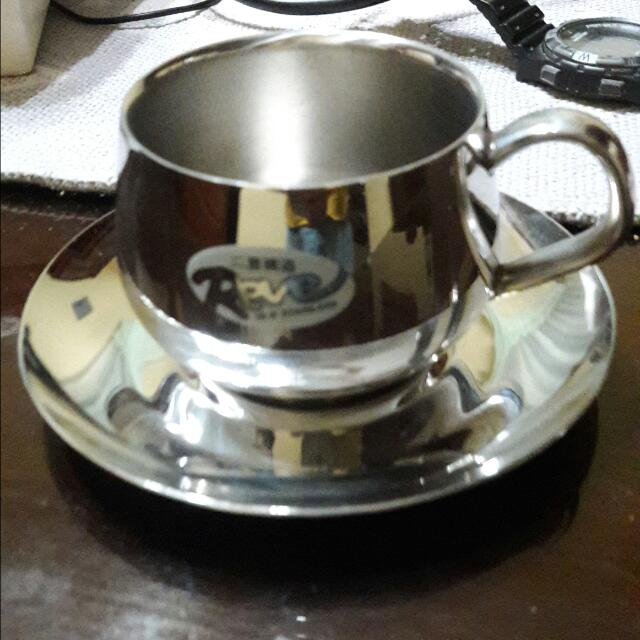 Cup And Saucer Stainless