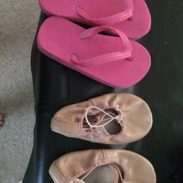Dance shoes and thongs