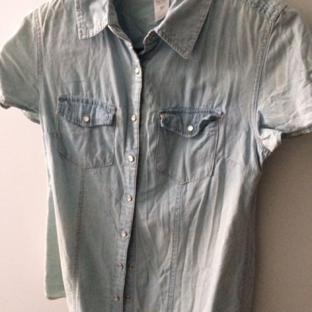 Denim shirt size 10