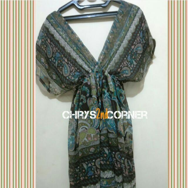 Dress Chifon Motif Batik Thailand