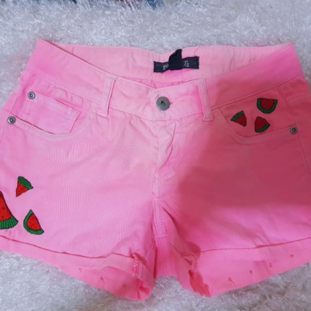 F21 embroidered shorts