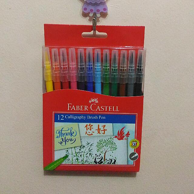 Faber Castell 12-color Calligraphy Brush Pen