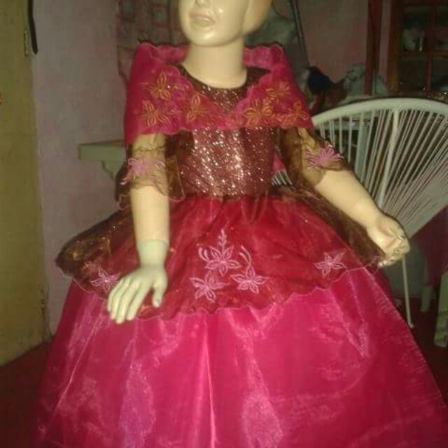 Filipiniana gown for rent, Babies & Kids, Girl\'s Apparel on Carousell