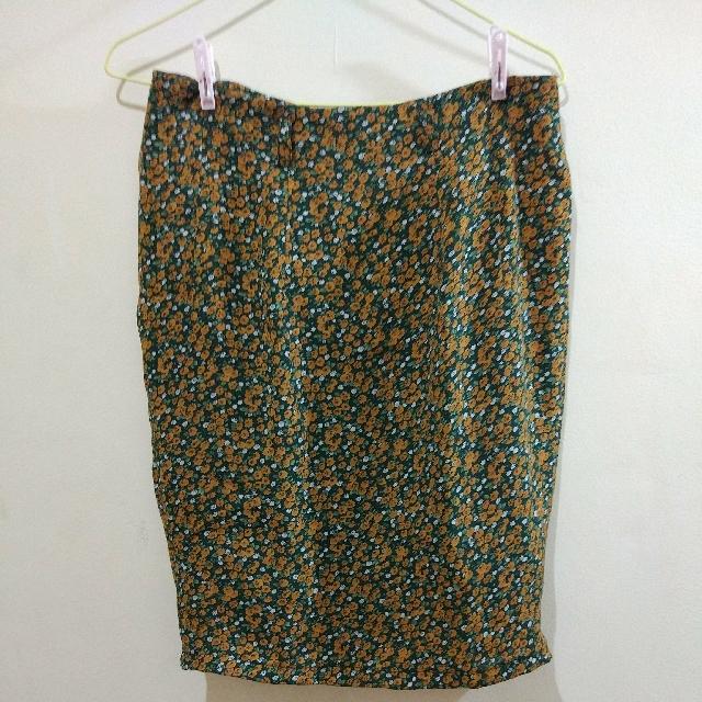 floral pencil dress