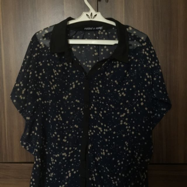 Folded & Hung Sheer top (can be used as a kimono)