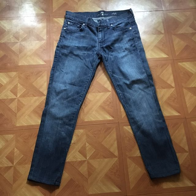 For All Mankind  Dark Faded Skinny Jeans