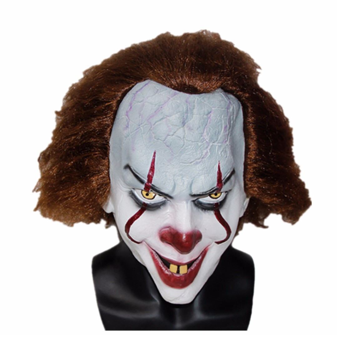 free delivery it movie pennywise scary clown mask halloween christmas party mask cosplay toys games bricks figurines on carousell
