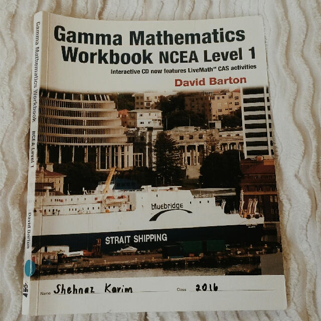Gamma Mathematics Workbook NCEA Level 1