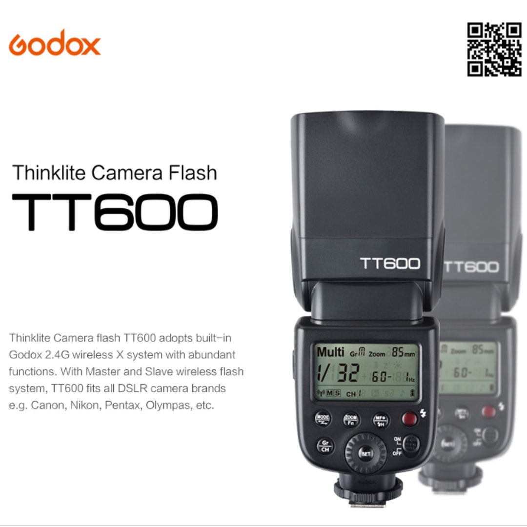 Godox Speedlite Flashes for Nikon Canon Sony Fuji Olympus Pentax