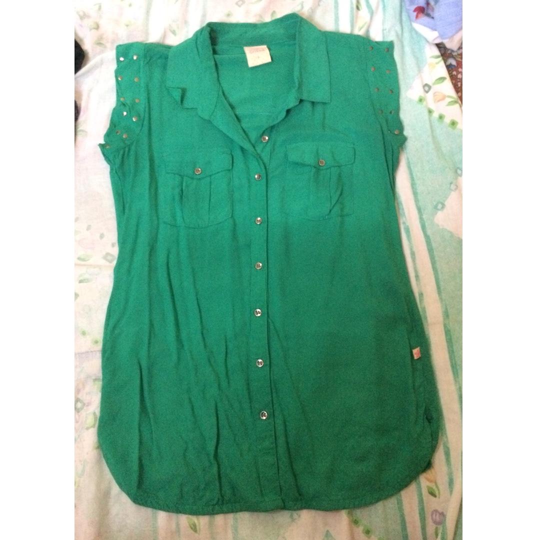 Crissa Green blouse