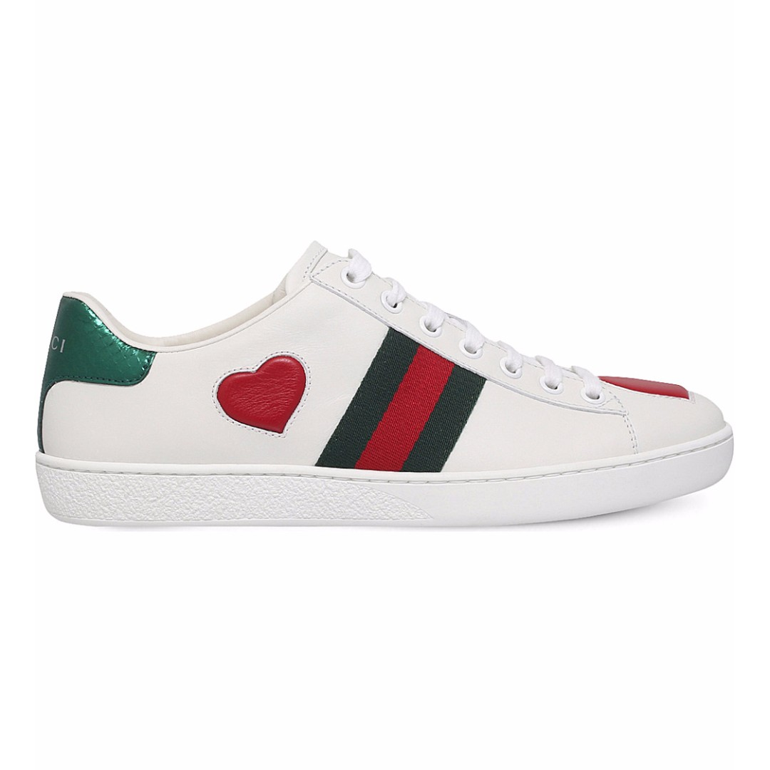 6468c9d168e GUCCI New Ace Heart Leather Trainers