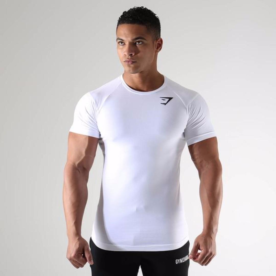 22c0c6ee Gymshark Short Sleeve T Shirt, Sports, Sports Apparel on Carousell
