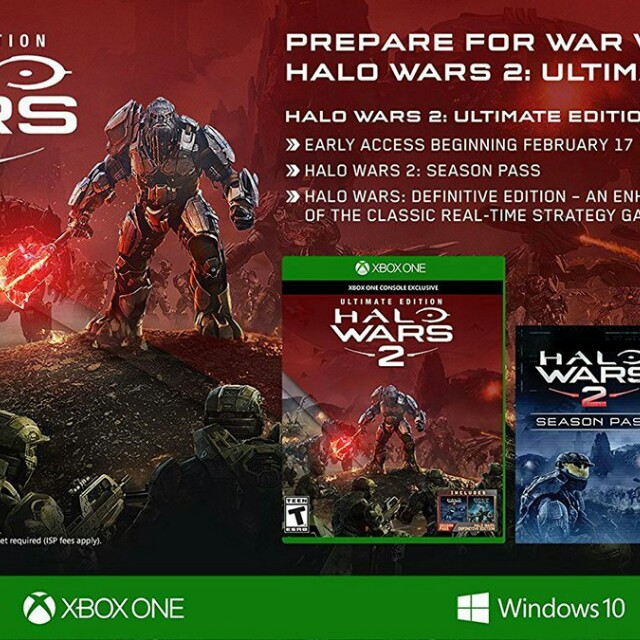 HALO WARS 2 - ULTIMATE EDITION for XBOX & WINDOWS 10 PC