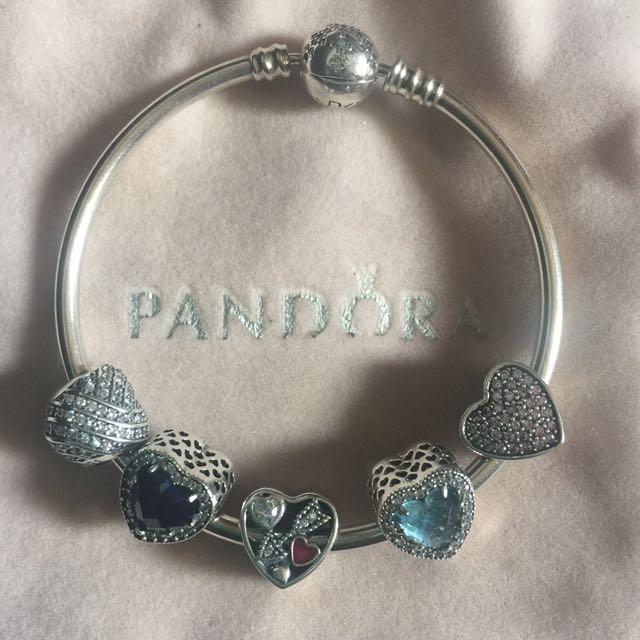 Heart charm for pandora bracelet