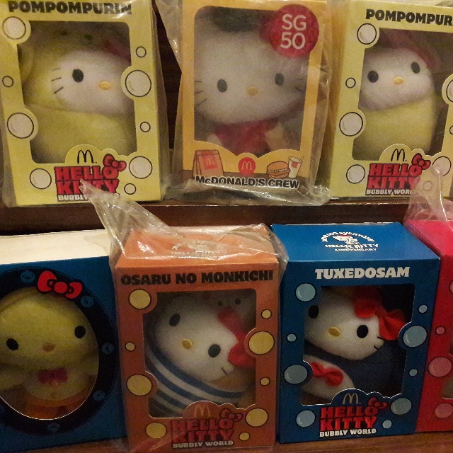 Hello Kitty Mcdo collectibles