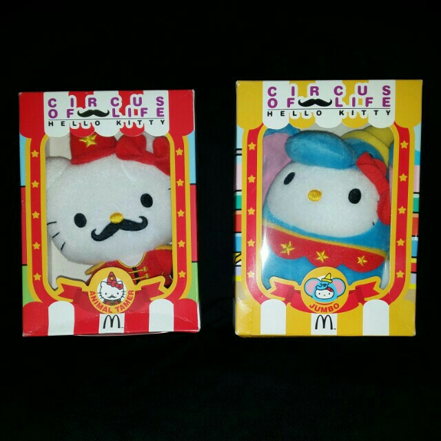 Hello Kitty Sanrio Plushie McDonald's Toy Circus of Life