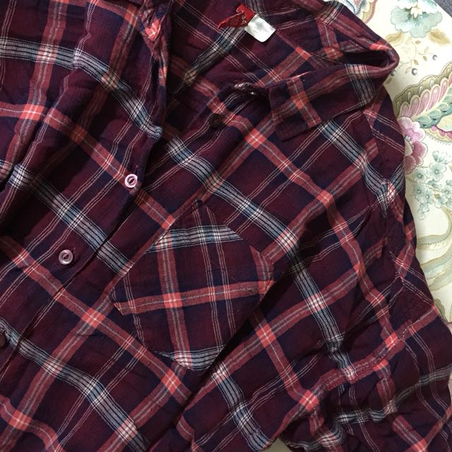 H&M Divided Checkered Long Sleeves