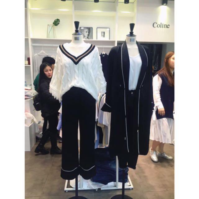 葒Hong 絲質緞面直筒褲