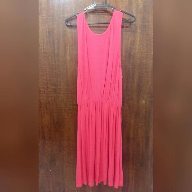 Hot Pink Cotton Dress