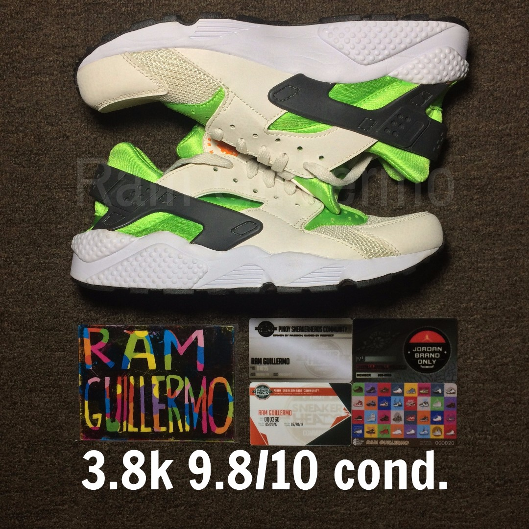 Huarache Action Green size 8.5