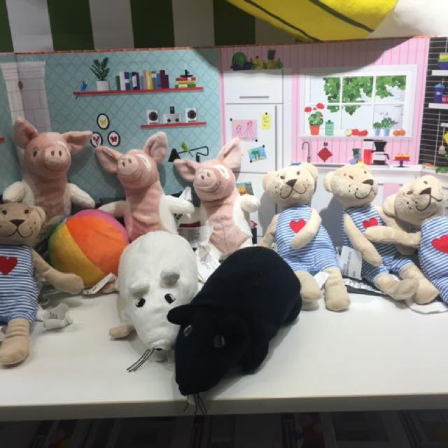 IKEA 各種 玩偶 豬、熊、球