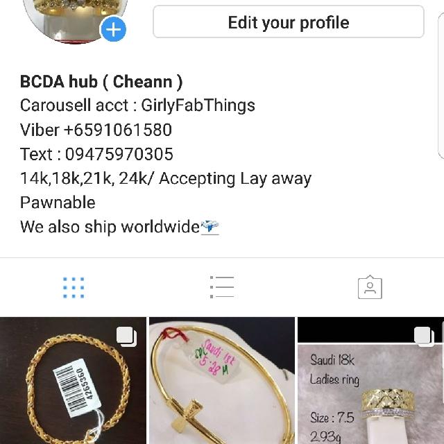 Jewelries for sale! IG account @ts_hub