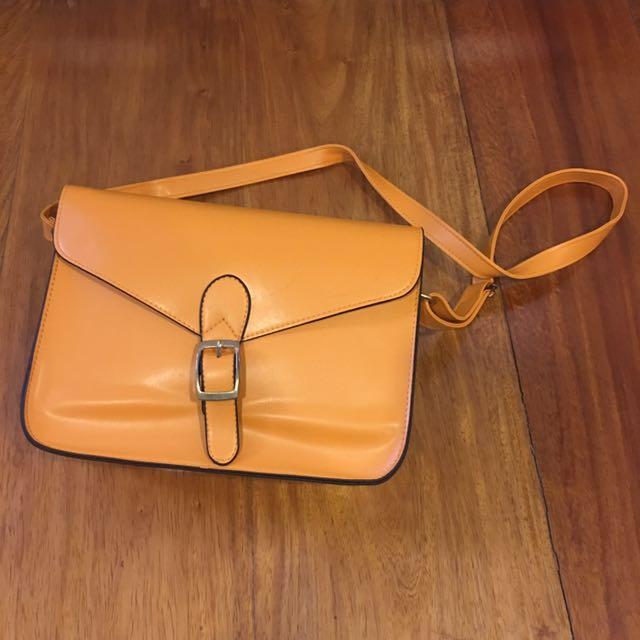Kanebo Yellow-Orange Sling Bag