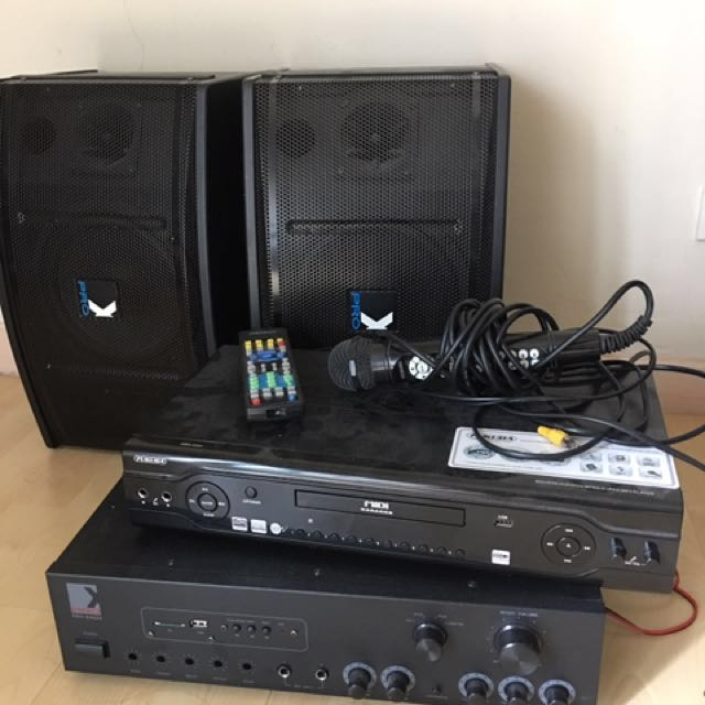 Karaoke Fukada Machine / Speakers And Sound System Prox you need to buy CDs for karaoke