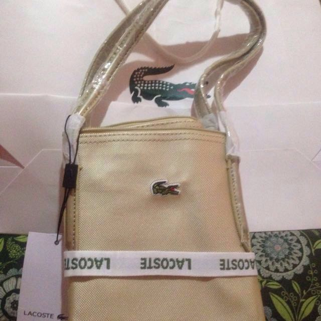 Lacoste horizontal Gold... authentic repriced napo