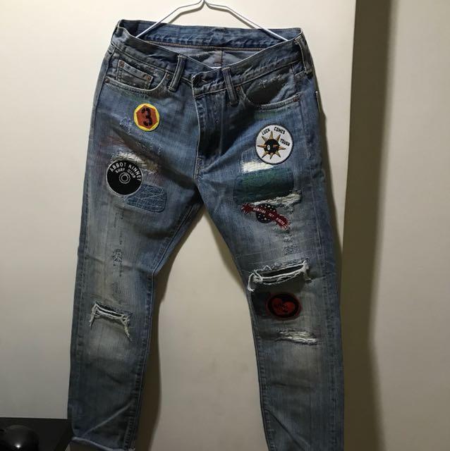 Levis貼布牛仔褲